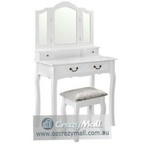 Elegant Dressing Table Stool 3 Mirror Jewellery Cabinet 4 Drawers Mosman Mosman Area Preview