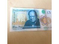 Rare Five Pound Note (AA01)