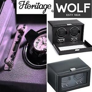 NEW WOLF HERITAGE WATCH WINDER 270102 226329469 DOUBLE WINDER WITH COVER