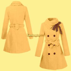 """NEW Winter Pea Coat Wool blend, belted Collar fit S chest 36-37"""""""