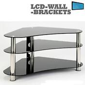 Corner Black Glass TV Stands