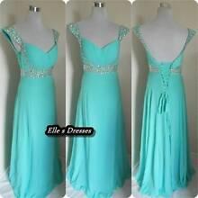 Aqua double strap formal/bridesmaid dresses Beenleigh Logan Area Preview