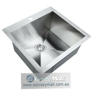 Stainless Steel Sink Flush Kitchen Laundry 530x500mm Mosman Mosman Area Preview
