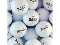250 x NIKE MOJO GOLF BALLS - PEARL/NEAR PEARL... free postage
