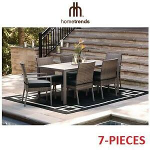 NEW* HOMETRENDS 7PC DINING SET 2 BOXES - 7-PIECE BORWICK PATIO SET - BORWICK 107227308