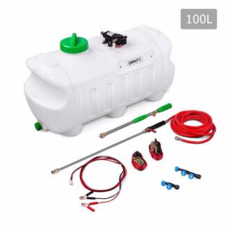 Weed Sprayer 12v 100 Litre Tank  Nozzles/Lance 10 Metre Hose