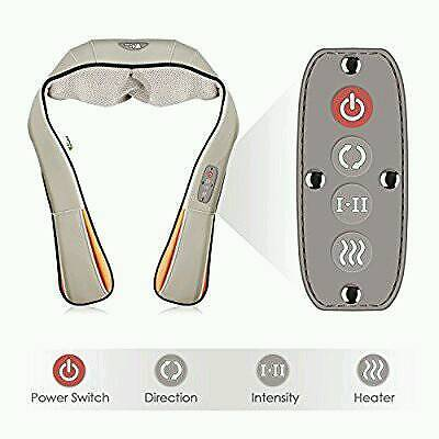 Amzdeal Shiatsu Neck and Back Massager with Heat and Timing Function