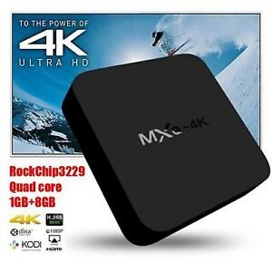 BoxAndroid MXQ, 4K Support, WiFi, IP TV. Q