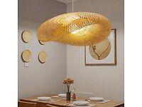 Modern Twist Hanging Light Bamboo .