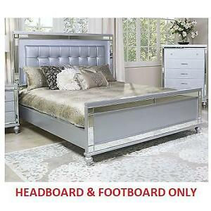 NEW* KING HEADBOARD / FOOTBOARD 180089209 VALENTINO KING SILVER