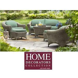 NEW* HDC LAKE ADELA 6PC PATIO SET - 120436082 - HOME DECORATORS COLLECTION SEATING SET
