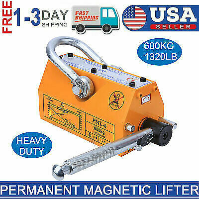 New 600 Kg Steel Permanent Magnetic Lifter Heavy Duty Crane Hoist Lifting Magnet