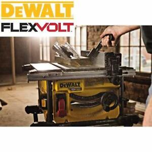 NEW* DEWALT FLEXVOLT TABLE SAW - 133130512 - CORDLESS 60V MAX 8-1/4-IN BATTERY AND CHARGER INCUDED