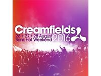 CREAMFIELDS 2 day Gold camping ticket