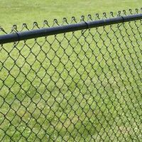 New 4ft black chain link fence. 200ft