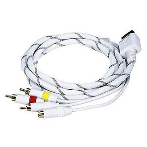6ft. AV Cable w/Composite (Yellow RCA)/S-Video and Stereo Audio