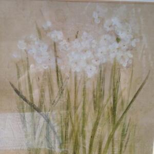 Like new Floral Art Print framed with glass Kitchener / Waterloo Kitchener Area image 2