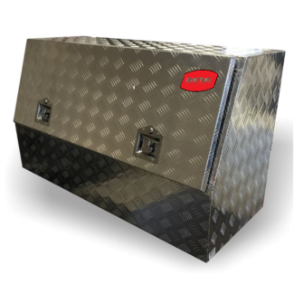 Aluminium Checker Plate High Side Opening Tool Box 150x60x70