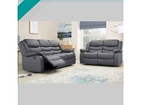 💖🎉Don't wait..! Order Now - Sale on CHICAGO GREY RECLINER SOFA AVAILABLE With fast delivery🎉💝