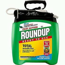 Roundup Fast Action weedkiller Pum n Go Spray 5L