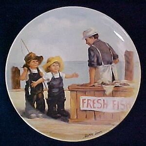 """Fish Story""- Jeanne Down - 1st Collector Plate in Series"