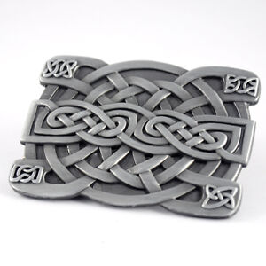 Special Vintage Celtic Gothic Knots Style Weave Irish Men/Boy's Belt Buckle