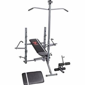 York 2 in 1 ultimate workout weight bench gym