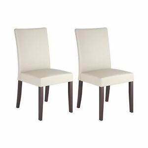 CorLiving DRC-885-C Atwood Transitional Dining Chair - Set of 2 - Rich Cappuccino/Cream (Open Box)