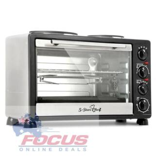 34L Benchtop Convection Oven with Twin Hot Plate