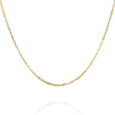 """10K Yellow Gold French Rope Necklace 18"""" (0.74 mm)"""