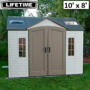 NEW LIFETIME 10 X 8 GARDEN SHED 600051 265958846 OUTDOOR