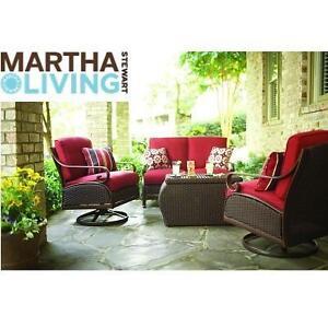 NEW* MARTHA STEWART 4PC SEATING SET - 130427709 - 4 PIECE CEDAR ISLAND