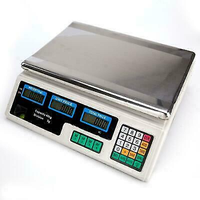 Digital Weight Price Scale 88LB/40KG Computing Food Meat Scale Produce Deli