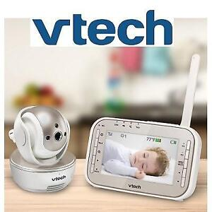 OB VTECH SAFE  SOUND BABY MONITOR VM343 190117070 PAN AND TILT VIDEO WITH NIGHT VISION WHITE OPEN BOX