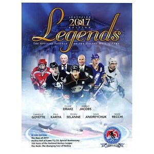 2 New Hockey Hall of Fame 2017 Induction Programs and Calendars