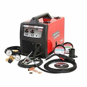Lincoln Electric 240-Volt MIG Flux-Cored Wire Feed Welder(BNIB
