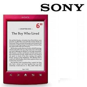 """RFB SONY DIGITAL EBOOK READER 6"""" PRS-T2HRC 200024636 2GB E-INK TOUCHSCREEN WIFI EREADER TABLET RED REFURBISHED"""