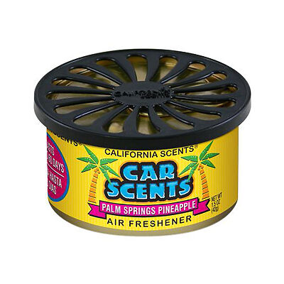 PINEAPPLE CALIFORNIA CAR SCENTS TRUCK HOME TIN AIR FRESHENER DEODORIZER OUDER