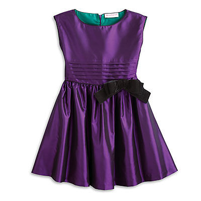 NEW American Girl Girls Size Medium 10 Purple Party