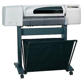 "HP DesignJet 510 42"" colour plotter c/w stand & media basket"