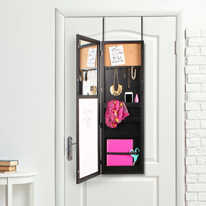 Over the Door Jewellery Storage with Mirror