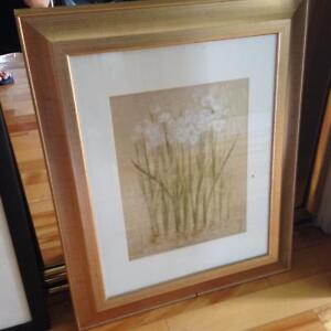 Like new Floral Art Print framed with glass Kitchener / Waterloo Kitchener Area image 3