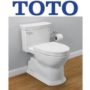 NEW TOTO 1PC ELONGATED BOWL TOILET - 129425978 - CHROME PLATED SANAGLOSS