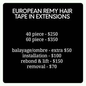 tape in hair extensions - full head only $250! Sunbury Hume Area Preview