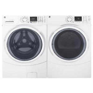BRAND NEW WASHER 5CU DRYER 7.8CU STEM WHITE PAIR.MOD.GFWS450WW