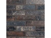 BRICK EFFECT, PORCELAIN TILE BRISTOL DARK with Frost Proof and Anti-Slip rating!