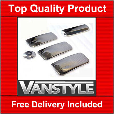 FORD TRANSIT 2000 -13 CHROME 4 DOOR HANDLE COVERS 5PC COVER SET STAINLESS STEEL