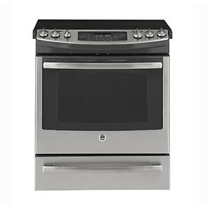 STOVE GE SLIDE-IN SMOOTHTOP STAINLESS STEEL OPEN BOX