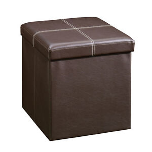 STORAGE CUBE/END TABLE/OTTOMAN STOOL - ESPRESSO BROWN - NEW!!