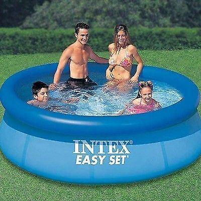 New Intex Easy Set Inflatable Swimming Paddling Pool 8 Ft Pool Pump